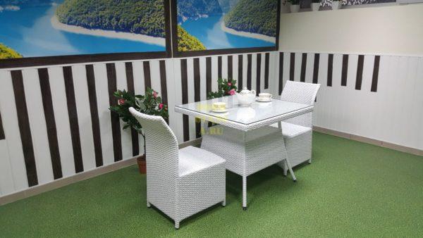 Фото-Комплект плетеной мебели Rose 2 white