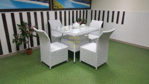 Фото-Комплект плетеной мебели Rose 4 white