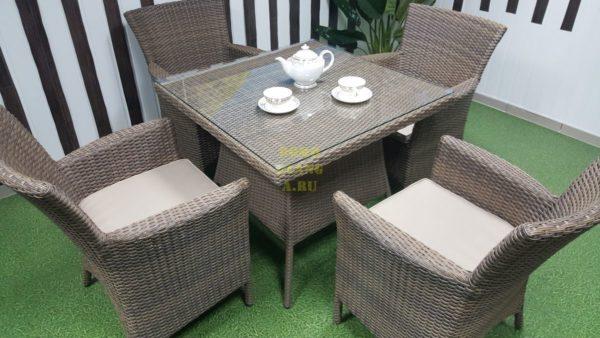Фото-Комплект плетеной мебели Samurai beige 4