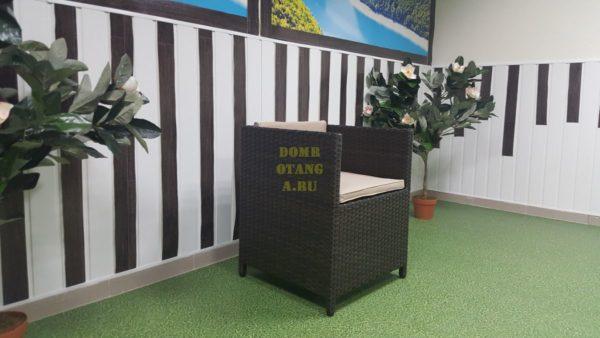 Фото-Кресло плетеное Barbados brown