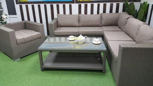 Фото-Мебель из искусственного ротанга Louisiana corner mocco set 2