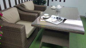 """Фото-Комплект плетеной мебели """"Glendon"""" 4 dining"""