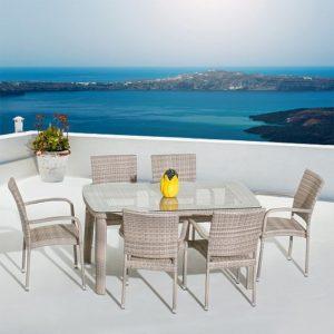 Фото-Мебель из искусственного ротанга Aventura Seis Dining Mi Casa