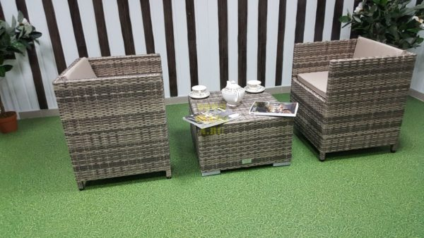 """Фото-Комплект плетеной мебели """"Barbados"""" cafe 2 set"""