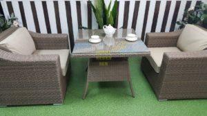 """Фото-Комплект плетеной мебели """"Glendon"""" 2 dining"""