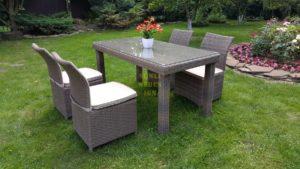 """Фото-Комплект плетеной мебели """"Infinity & Rose"""" 160 cafe set beige"""