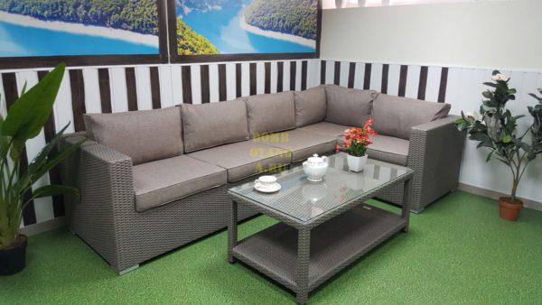 Фото-Плетеная мебель Louisiana corner mocco 2