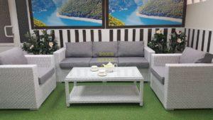 Фото-Плетеная мебель Louisiana white&grey
