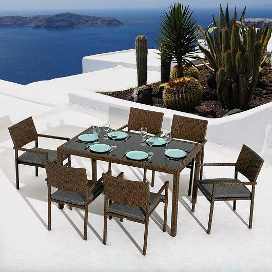 """Фото-Плетеная мебель """"Roca Seis Dining"""" Mi Casa"""