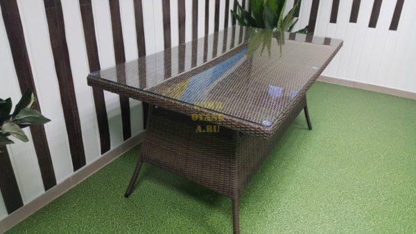 Фото-Плетеный стол Samurai brown 160