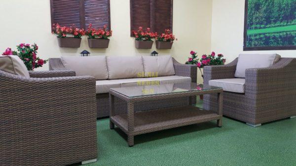 """Фото-Комплект плетеной мебели """"Glendon"""" lounge beige"""