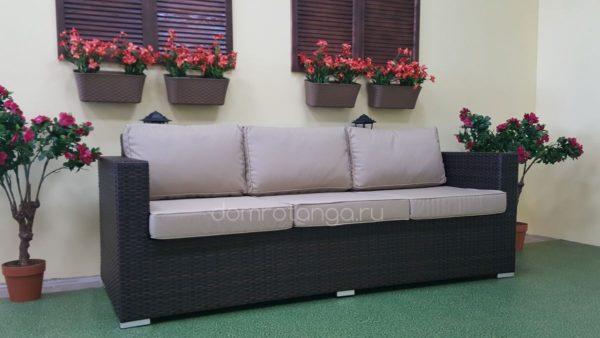 Плетеный диван Acoustic brown