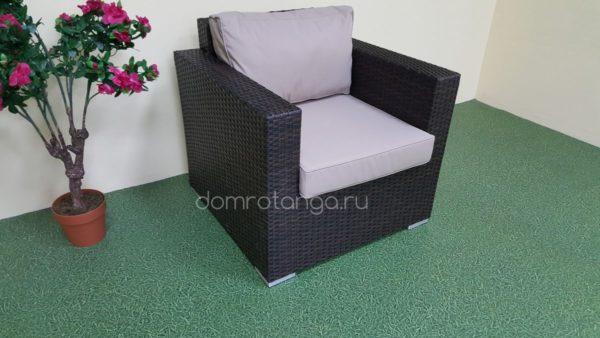Плетеное кресло из искусственного ротанга «Acoustic» brown