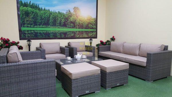 Фото-Искусственный ротанг мебель Allegro natur&beige