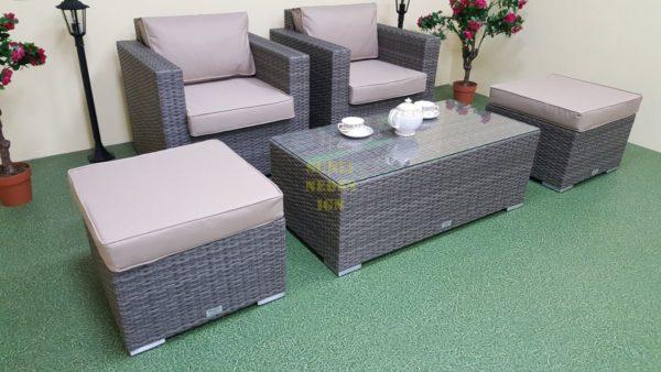 Фото-Allegro natur&beige balcony set Ротанг мебель искусственная