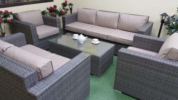 Фото- Плетеная мебель Allegro natur&beige set 1
