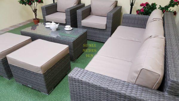 Фото-Allegro natur&beige set 2 Искусственный ротанг мебель