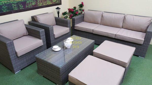 Фото-Садовая плетеная мебель Allegro natur&beige set 2