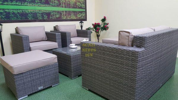 Фото-Мебель из искусственного ротанга Allegro natur&beige set 3