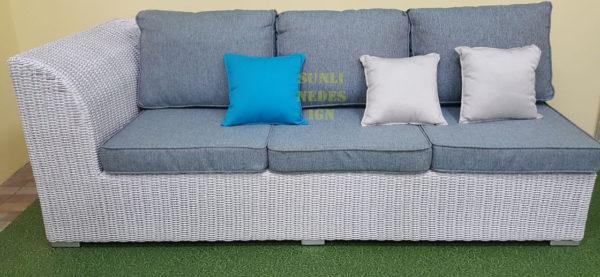 Фото-Atlantic плетеный диван модуль левый
