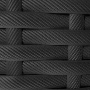 Фото-Искусственный ротанг Flat Pegas anthracite производство плетеной мебели