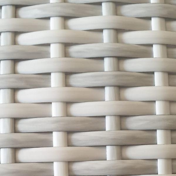 Фото-Искусственный ротанг Flat Teak white / Ателье ротанговой мебели
