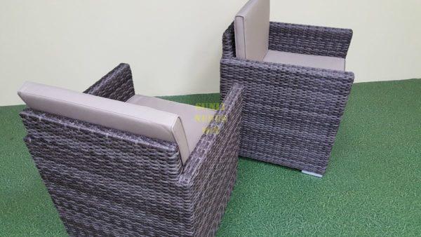 Фото-Кресло обеденное из искусственного ротанга Infinity brown grey