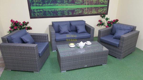 Фото-Плетеная мебель Allegro natur&grey set 3 / фабрика Sunlinedesign