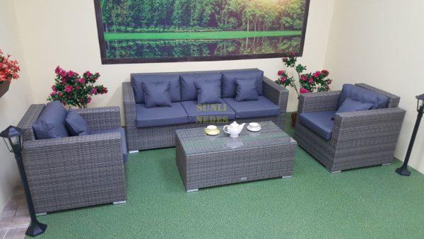 Фото-Мебель из искусственного ротанга Allegro natur&grey set 2