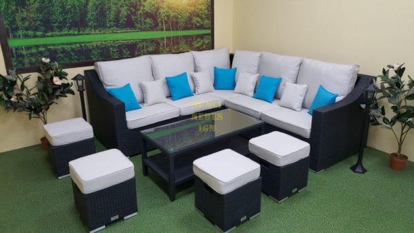 Фото-Комплект плетеной мебели Pegas grey