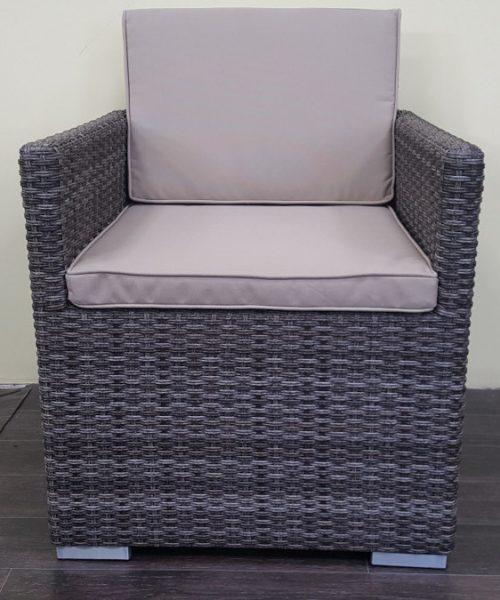 Фото-Кресло плетеное Infinity-brown-grey