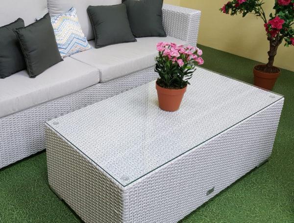Фото-Стол плетеный Pegas 120х60х49
