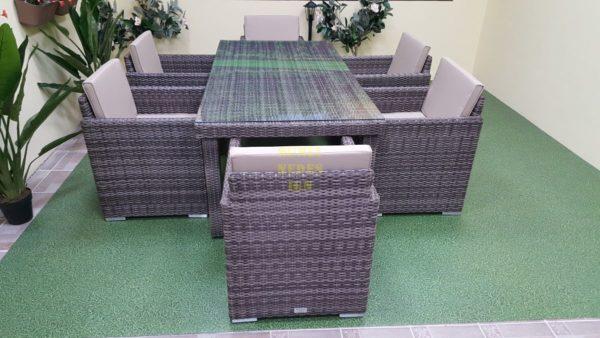 Фото-Мебель садовая из ротанга Infinity brown grey 6