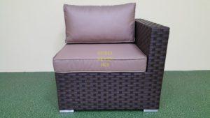 Jazz диван из искусственного ротанга модуль угловой
