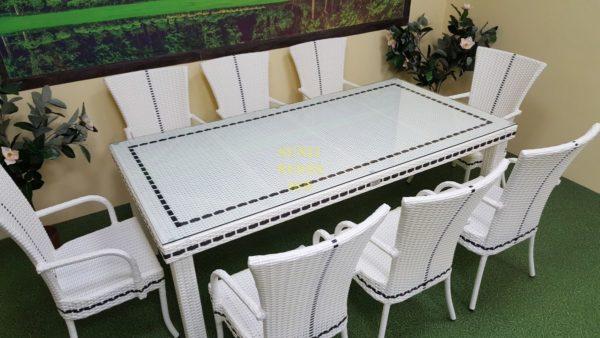 Комплект плетеной мебели Столовая Aurora