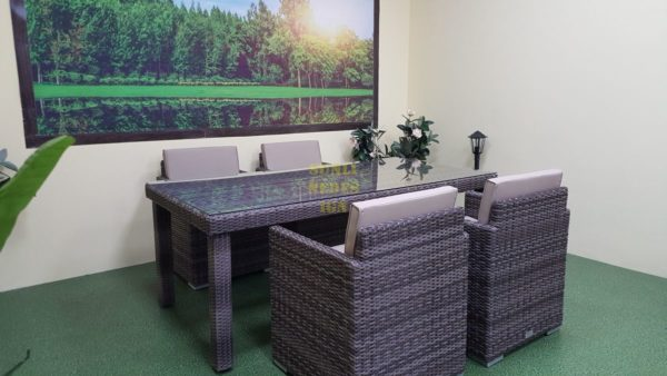 Фото-Плетеная мебель Infinity 200 brown grey 4