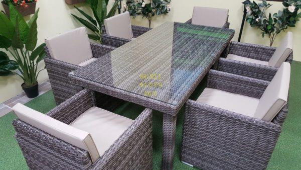Фото-Ротанг мебель столовая Infinity brown grey 6