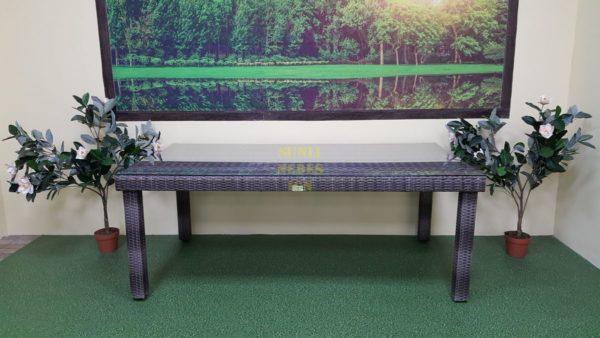 Фото-Стол из искусственного ротанга Infinity brow grey 200х100 Sunlinedesign