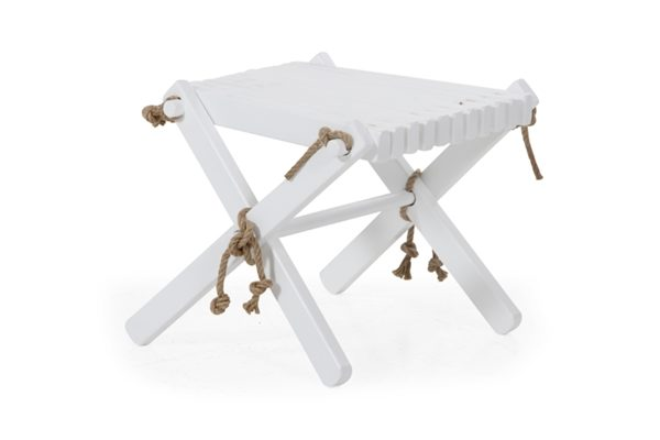 Фото-3007-5 Ribbon white табурет-стол садовый
