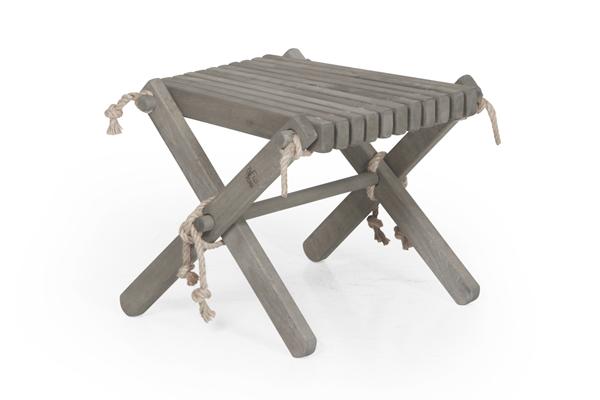 3007-7 Ribbon grey табурет-стол садовый