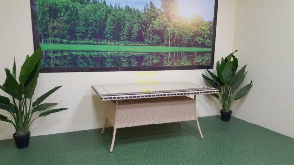 """Фото-Стол из искусственного ротанга """"Aura"""" 160 beige"""