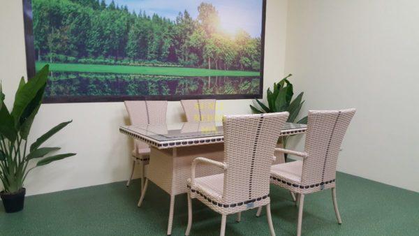 Фото-Aura beige 4 Комплект плетеной мебели