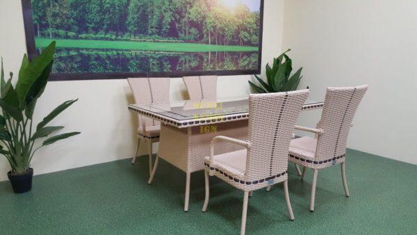 Фото-Плетеная мебель из искусственного ротанга Aura beige 4