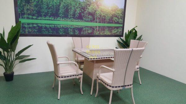 Фото-Aura beige 4 Плетеная мебель столовая