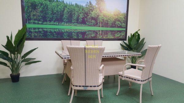 Фото-Aura beige 4 Садовая мебель из экоротанга Sunlinedesign