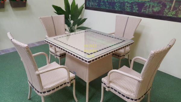Aura beige 4 Садовая мебель плетеная
