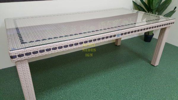 Aurora beige 160 Стол плетеный из искусственного ротанга