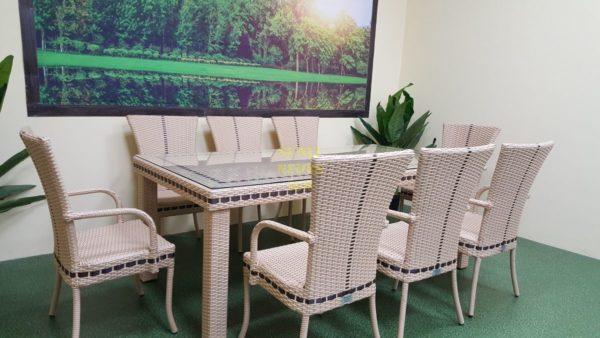 Фото-Aurora beige 8 Садовая мебель из ротанга