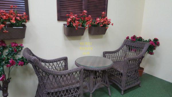 Beatrix beige cafe set Мебель из ротанга искусственного