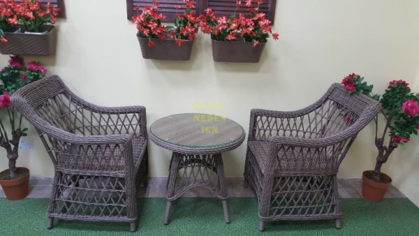 Фото-Beatrix beige cafe set Плетеная мебель